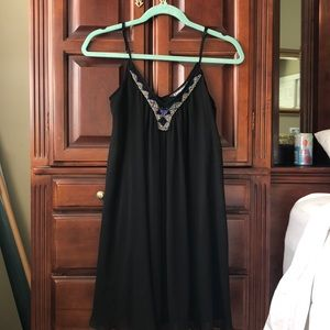 Black Flowy Express Dress